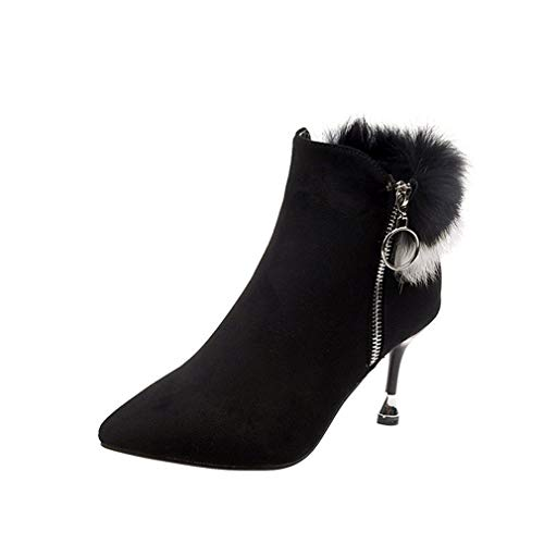 Vestir Negro Aguja Para Zapatos Mujer Moda Sexy Noche Mujer Botas Tacones De Yan Elegantes Invierno Y Puntiagudos Botines ZTA1zqWw54