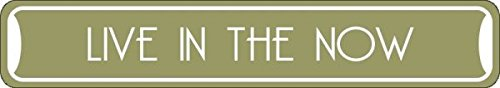 """Live in the Now Collectible Eco-Friendly Novelty Sign Aluminum Metal Signs 3""""x18"""""""
