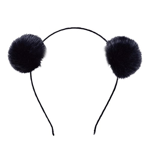 SQ Kids Girls Rabbit Fur Ball Cat Ears Hair Hoop Headband Cosplay Costume Halloween (Halloween Band Best Songs)