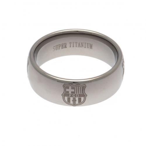 F.C. Barcelona Super Titanium Ring Medium