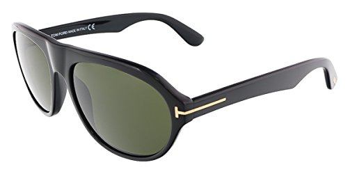 TOM FORD Mens TF0397 Ivan Sunglasses 01N Shiny Black, - Tom Clothes Ford Uk