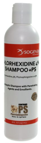 Sogeval Chlorhexidine 4% Shampoo For Dogs, Cats & Horses, 8 oz.