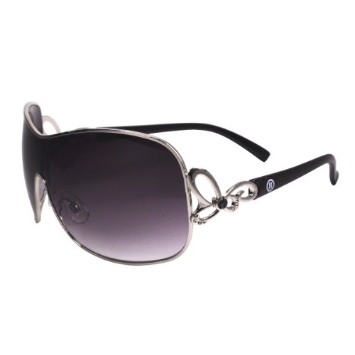 Silver Rim Sunglasses, Designer Style with Rhinestones, with Nice Case, - Sunglasses Designer Cheap