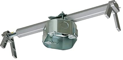 Arlington FBRS4200R-1 Steel Fan and Fixture Mounting Box with Adjustable Bracket, For Existing Construction, 16-24-inches, Metallic, 1-Pack Arlington Industries. Inc