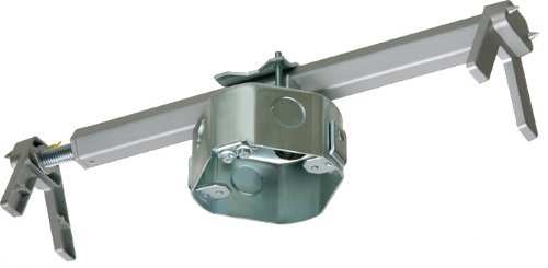 Arlington FBRS4200R-1 Steel Fan and Fixture Mounting Box with Adjustable Bracket, For Existing Construction, 16-24-inches, Metallic, - Junction Box Adapter