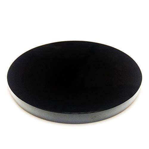 Polar Jade Black Obsidian Scrying Mirror 80 mm 3.1