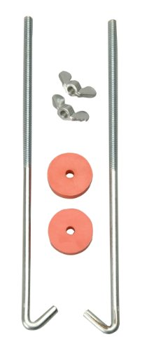 Road Bolt - Road Power 966-12 J Hook Battery Hold down bolts, 2-Pack, Chrome, 12-Inch