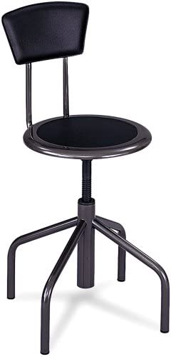 Safco Products Diesel Low Base Stool with Back, Pewter