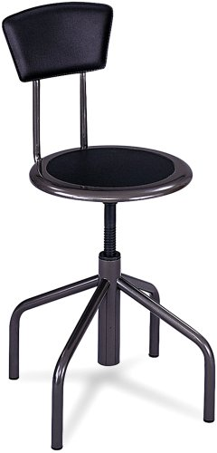 (Safco Products 6668 Diesel Low Base Stool with Back,)