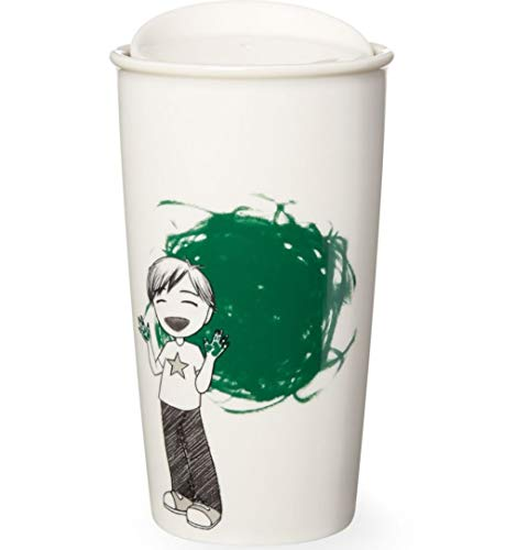 Starbucks Boy Painter Double Wall Traveler, 12 Oz (11051429)