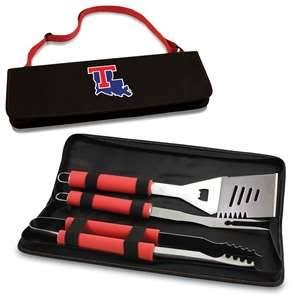 (PICNIC TIME NCAA Louisiana Tech Bulldogs Metro 3-Piece BBQ Tool Set in Carry Case )