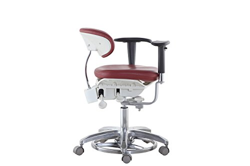 SoHome Microsope Dynamic Chair Foot Controlled Doctor's Mobile Stool with Swiveling Armrest MDS-FC1 by SoHome (Image #4)