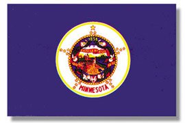 Minnesota 1957 State Indoor Outdoor Dyed Nylon Flag Grommets 3' X ()