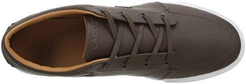 Lacoste Men's Bayliss Vulc Prm Us Spm Fashion Sneaker Fashion Sneaker, Dark Brown, 7 M US