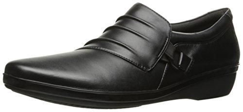 Black Clarks Leather Donna Sneaker Clarks Sneaker Sneaker Leather Clarks Black Donna ZfaXOwZpr
