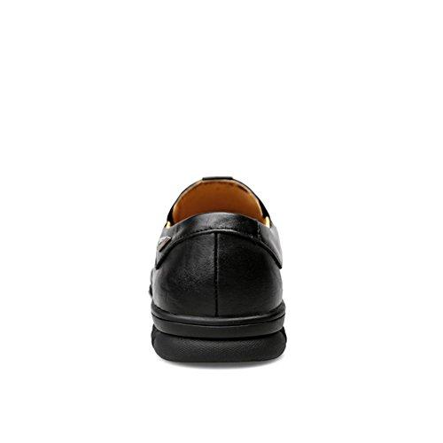 Loafers Da Uomo Comode Scarpe Casuale Insun Mocassini Nero Liscia qwXp0Y