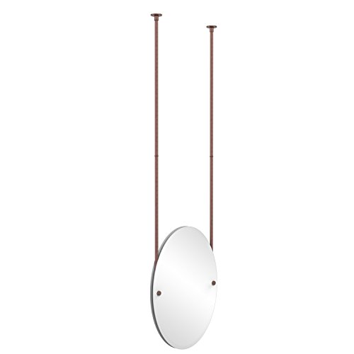 - Allied Brass CH-91-CA Frameless Oval Ceiling Hung Mirror with Beveled Edge, Antique Copper