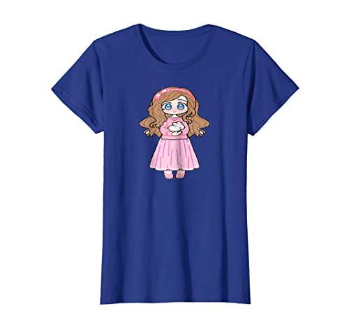 Cute Shy Anime Girl With Bunny T-Shirt