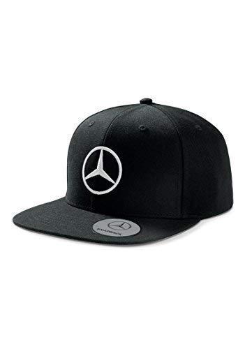 Mercedes Benz Men's Black Flat Brim Snapback Hat -