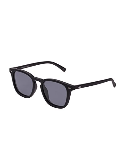 Le Specs Women's Polarized No Biggie Sunglasses, Black Rubber/Smoke Mono, One - Biggie Sunglasses