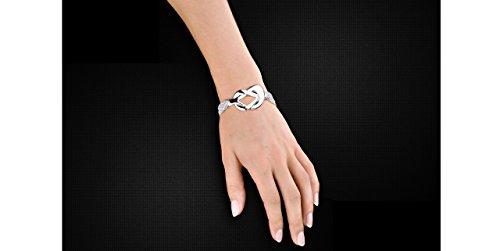 Clio Blue Bracelet multi-chaînes Vintage en argent 925, 41.4g