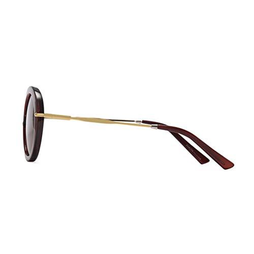 la à polarisées de Nouvelles Couleur de Lunettes E E Des Cadre Femme rétro Sport Soleil lunettes soleil Rond Mode qywOS6