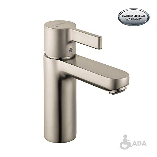 hansgrohe Metris S  Modern 1-Handle  6-inch Tall Bathroom Sink Faucet in Brushed Nickel, 31060821