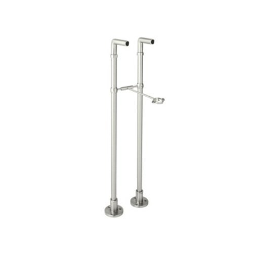 Rohl ZA383-PN 34-7/8-Inch Length Cisal Pair of Floor Pillar Legs for Exposed Tub Filler Mixers Ac7X A1401 and A1901 in Polished Nickel