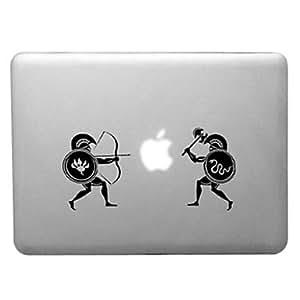 """ZXM- Patrón batalla primitiva caja dura transparente PC para el MacBook Pro (colores surtidos) , Blanco , 15.4"""""""