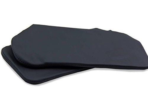 Chevrolet Camaro Firebird Sunvisor Set Synthetic Leather Covers Black For 93-02 (Synthetic Visor)