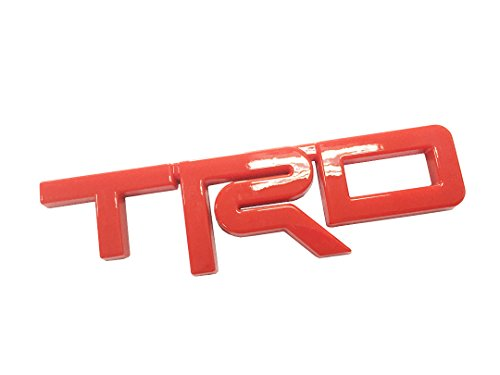 Dian Bin- Large TRD Red ABS Sticker Vehicle-badge Logo Emblem for Toyota Available