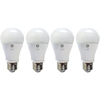 GE Lighting LED Light Bulb, A19, 60-Watt Replacement, Daylight, 4-Pack LED Light Bulbs, Medium Base, Dimmable