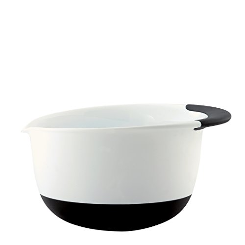 OXO Good Grips 3-Quart Mixing Bowl, White/Black