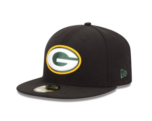 NFL Green Bay Packers Black 59Fifty Baseball Cap (Black 59fifty Youth Fitted Cap)