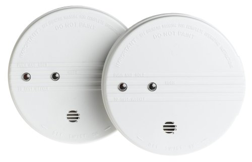 Kidde i9060 Battery-Operated Ionization Sensor Smoke Alarm with Hush Feature, 2-Pack