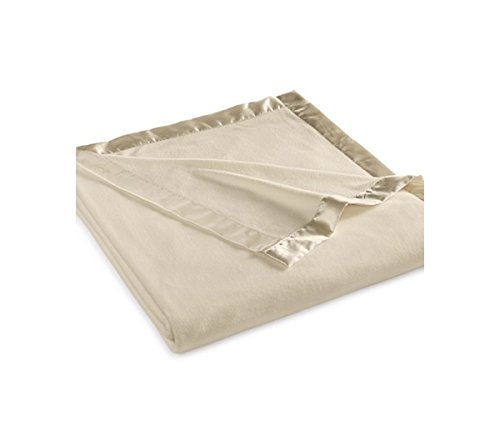 Martha Stewart Easy Care Soft Fleece Blanket (King, Camel Tan)