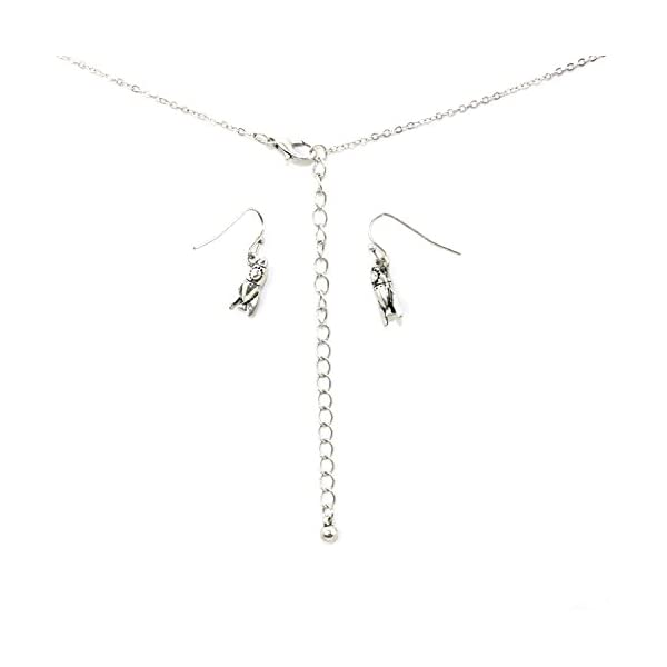 """""""To the moon and back"""" Pendant Necklace and Earring Set with Rocket Ship and Pearl"""