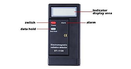 Sunsbell - Detector de radiación electromagnética profesional LCD digital EMF medidor dosimetro medidor radiación herramienta de medición 50HZ-2000MHZ: ...