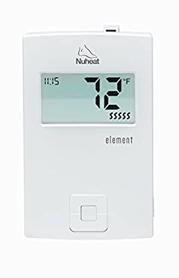 Nuheat Element Non Programmable 120/240V Radiant Floor Heating Thermostat GFCI and LCD Display