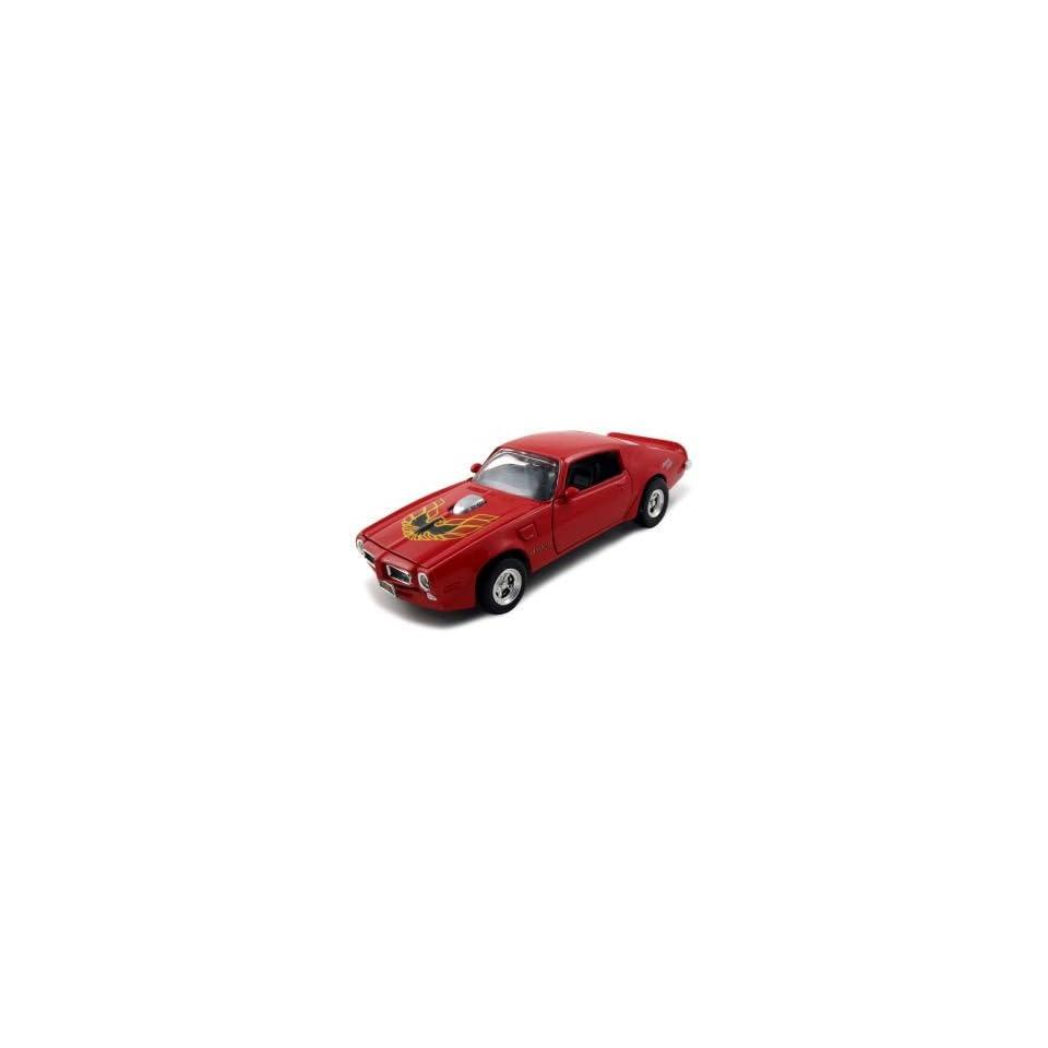 1973 Pontiac Firebird Trans Am American Graffiti Diecast Car Model 1/24 Red Die Cast Car by Motormax