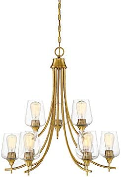 Savoy House 1-4033-9-322 Octave 9-Light Chandelier in a Warm Brass Finish 28 H x 30 W