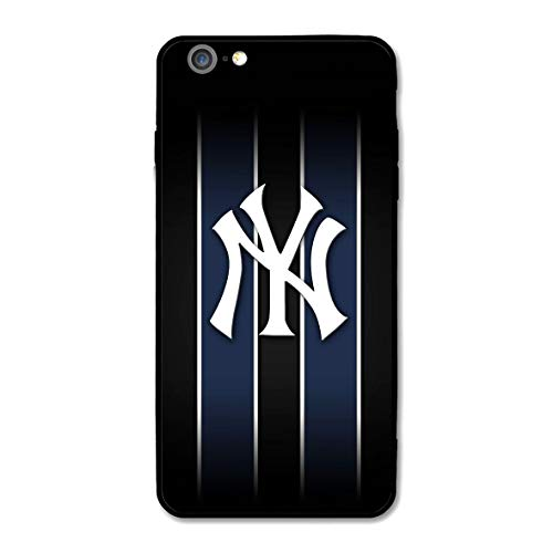 iPhone 7, iPhone 8 case, Ultra-Thin Printed Acrylic Rear Panel with Soft TPU Bumper Military Cover for iPhone 7/8 Only 4.7 inches (Yankees-NYY 1)