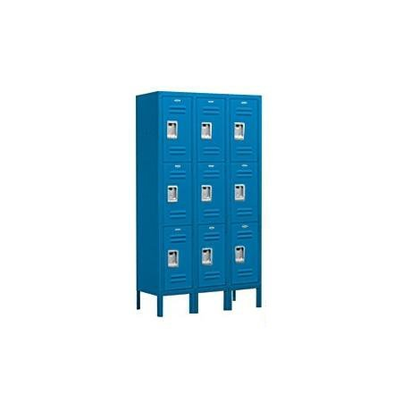 Salsbury Industries Assembled 3-Tier Standard Metal Locker with Three Wide Storage Units, 5-Feet High by 15-Inch Deep, ()