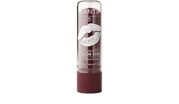 SANTE Smooth Color Kiss Tinted Lip Balm - Bálsamo Labios Barra de Colores - Soft Plum - Rico en vitamina E - Con Fragancia Frutal - Sin gluten y sin lactosa ...