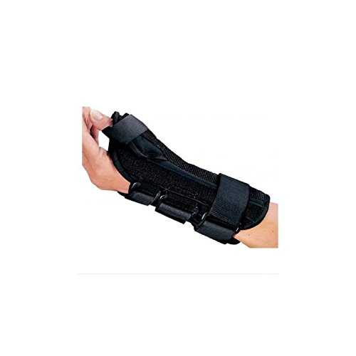 DJO ProCare ComfortFORM Wrist Splint With Abducted Thumb Foam / Lycra Right Hand Black Medium - qty : 1