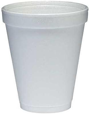 Vaso caliente desechable de 10 onzas Blanco, Espuma, Pk1000 ...