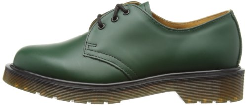 Dr. Martens Womens 1461 3 Eye Black Shoes 3 M UK, 5 M Green