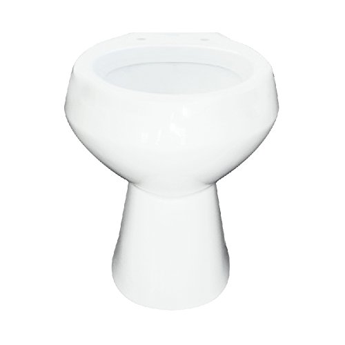 Transolid TB-1475-01 Elongated Vitreous China Toilet Bowl in White