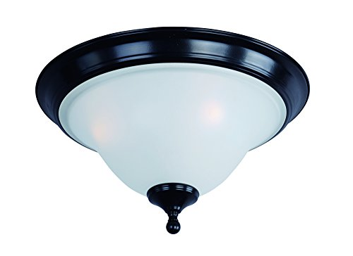 Linda 3 Light Pendant - Maxim 11800ICBK Linda 3-Light Flush Mount, Black Finish, Ice Glass, MB Incandescent Incandescent Bulb , 40W Max., Dry Safety Rating, Glass Shade Material, Rated Lumens
