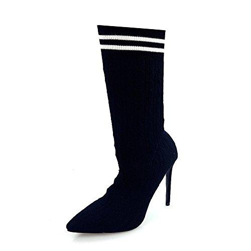 Shoes Black Miss zeppa Sandali Knit Diva con 5W88XPF7q